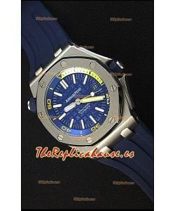 Audemars Piguet Royal Oak Offshore Reloj Réplica Japonés Automático estilo Buzo en color Azul Oscuro