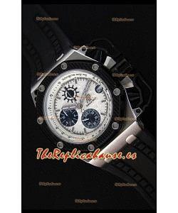 Audemars Piguet Royal Oak Reloj Réplica Cronógrafo de Cuarzo Suizo Survivor, Dial Blanco