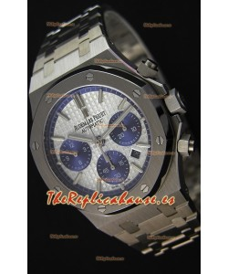 Audemars Piguet Royal Oak Reloj Réplica Suizo Cronógrafo, Dial Blanco, Correa de Acero