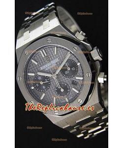 Audemars Piguet Royal Oak Reloj Réplica Suizo Cronógrafo, Dial Gris tipo Pizarra Correa de Acero