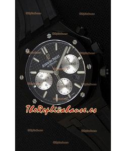 Audemars Piguet Royal Oak Reloj Réplica Suizo Cronógrafo Dial Negro