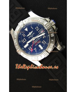 Breitling Avenger II GMT Reloj Réplica Suizo con Dial Negro Réplica a Espejo 1:1 Version