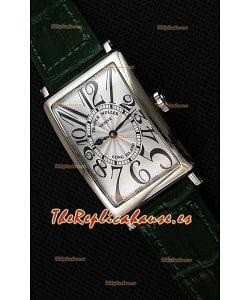 Franck Muller Long Island Ladies Reloj Réplica con Movimiento de Cuarzo Suizo correa color Verde