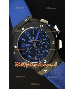 Hublot Big Bang Reloj Réplica Suizo todo el Revestimiento PVD color Azul Réplica a Espejo 1:1