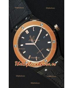 Hublot Classic Fusion Ceramic King Gold Reloj Réplica Suizo Dial color Negro - Reloj Réplica a Espejo 1:1