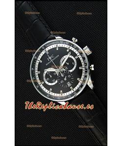 IWC Schaffhausen Reloj Réplica Japonés Movimiento de Cuarzo Dial en Negro