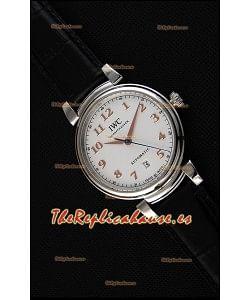 IWC Schaffhausen DA Vinci IW356601 Reloj Suizo Automático Dial Blanco Réplica a Espejo 1:1