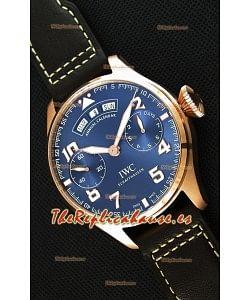 IWC Big Pilot Annual Calender Dial de Acero color Azul Réplica a Espejo 1:1