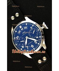IWC Big Pilot Annual Calendar IW502702 Spitfire Reloj Suizo Réplica a Espejo 1:1 Dial Azul