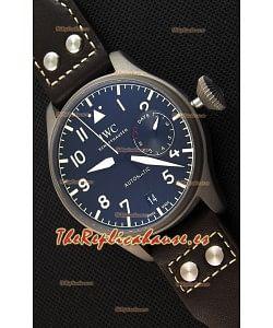 IWC Big Pilot's IW501004 Reloj Heritage Suizo en Titanio - Función Indicadora de Reserva de Energía - Réplica a Espejo 1:1