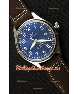 IWC Pilot's MARK XVIII IW327010 Reloj Réplica Suizo Le Petit Prince Dial de Acero color Azul Réplica a Espejo 1:1