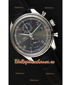 IWC Portugieser Chronograph Classic IW390302 Reloj Réplica Suizo Dial Gris