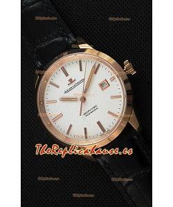 Jaeger LeCoultre Geophysic True Second Reloj Réplica Suizo en Oro Rosado Dial en color Blanco