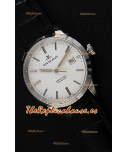 Jaeger LeCoultre Geophysic True Second Reloj Caja de Acero Dial Blanco