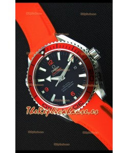 Omega Seamaster Planet Ocean Swiss Correa Naranja Réplica 45MM 1:1 Ultimate Edition Watch