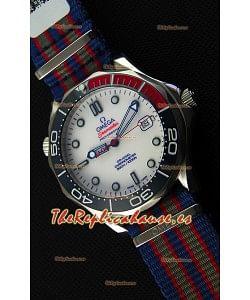 Omega Seamaster Diver 300M 007 Commander's Reloj Réplica Suizo a Espejo 1:1 Edición Limitada