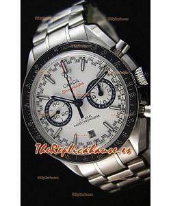 Omega Speedmaster Racing Co-Axial Master Reloj Réplica Suizo Cronógrafo en Dial Blanco