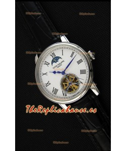 Patek Philippe Japanese MoonPhase Tourbillon Reloj Réplica Dial Blanco