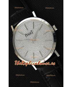 Piaget Altiplano G0A36128 Paved Diam Dial Reloj Réplica de Cuarzo Suizo en Caja de Acero