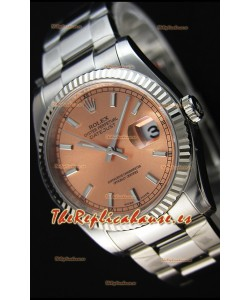 Rolex Datejust 36MM Cal.3135 Movement Reloj Réplica Suizo Dial Champange Oyster Strap - Ultimate 904L Steel Watch