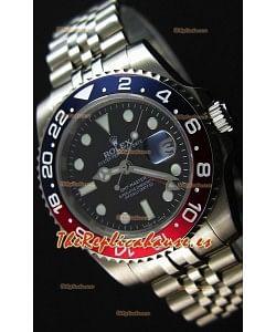 Rolex GMT Masters II 116719BLRO Bisel Pepsi Reloj Réplica Suizo Movimiento Cal.3186 - Último Reloj de Acero 904L
