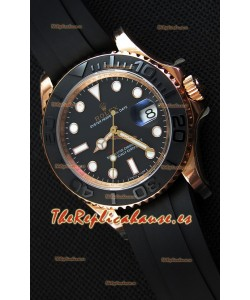 Rolex Yachtmaster 116655 Reloj de Acero 904L a Espejo 1:1 Movimiento Suizo Cal.3135 Everose 40MM