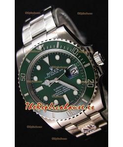 Rolex Submariner Ref#116610LV The Hulk Reloj Réplica Suizo a Espejo 1:1 - Reloj en Acero 904L