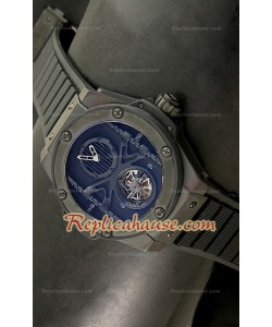 Hublot Big Bang Keng Power Tourbilon Reproducción Japonesa del Reloj en PVD