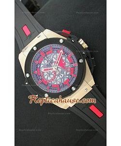 Hublot Big Bang Keng Power Manchester United Reloj Japonés en Oro Rosa