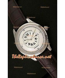 Mont Blanc Mechanique Horlogere Reloj Suizo con Esfera Blanca