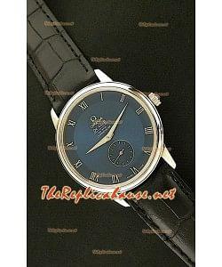 Omega Deville Reloj Automático Japonés en Acero con Esfera en Azul oscuro