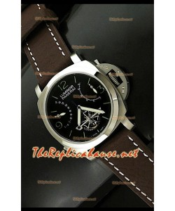Panerai Lumenor Reloj Tourbilon Con Reserva de Energía de 44MM - Esfera de color Negro