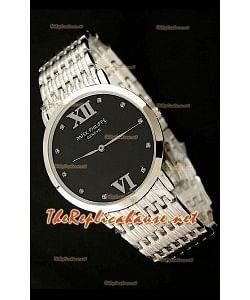 Patek Philippe Reloj Japonés de Cuarzo en Acero Inoxidable - 38MM Esfera de color Negro