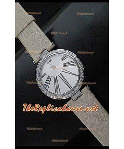 Piaget Altiplano Reloj de Cuarzo Suizo con Esfera de Hora en Correa de Piel Bronzeada
