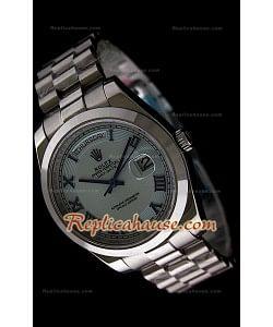 Rolex DayDate Reproducción Reloj Suizo con Números Árabes