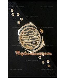 Rolex Datejust Reproducción Reloj Suizo en Oro Amarillo