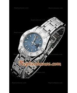 Rolex Datejust Reproducción Reloj Suizo para Señoras con Esfera en Azul oscuro