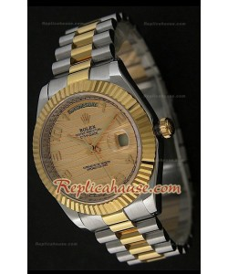 Rolex Daydate Reloj Suizo en Dos Tonos- Esfera en Oro