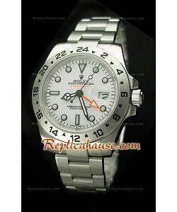 Réplica Reloj Rolex Edición Explorer II 2011 con Esfera Blanca