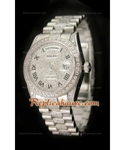 Rolex Daydate Réplica Reloj Suizo con Diamantes