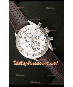 Tag Heuer SLR 300 Reloj Conógrafo Japonés de Cuarzo con Esfera Blanca