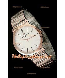 Vacheron Constantin Reloj Japonés de Cuarzo en Dos Tonos Oro Rosa - 38MM