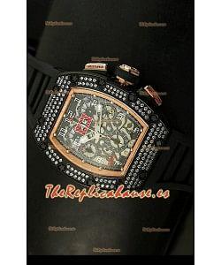 Richard Mille Edición Felipe Massa, Reloj Réplica Suiza en Caja de Oro Rosado/PVD