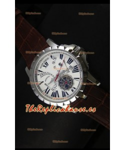 Roger Dubuis Excalibur Calendar Reloj con Dial Blanco