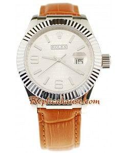 Rolex Datejust Leather Reloj Réplica