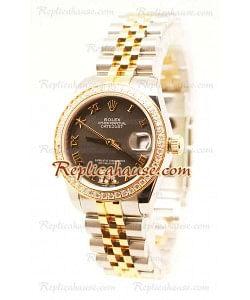 Rolex Datejust Oyster Perpetual Reloj Suizo de imitación - 33MM