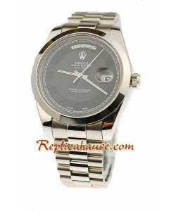Rolex Réplica Day Date II Silver Reloj Suizo - 41MM