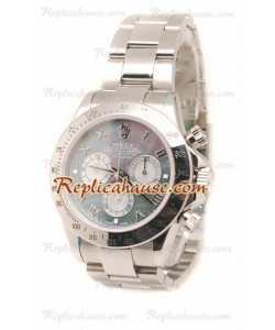 Rolex Daytona Suizo Stainless Steel Reloj en el Dial Color Perla - 40MM