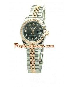 Rolex Réplica Datejust Reloj para Dama - Oro Rosa