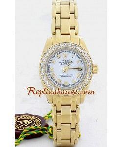 Rolex Réplica Datejust - Gold - Dama -